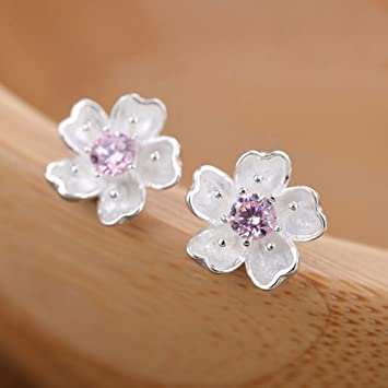 joyliveCY Nice Woman Jewelry Chic 925 Silver Stud Earings 8Mm Smooth Bead MnCn0hKe