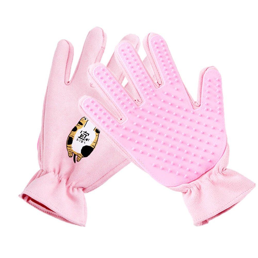 Bluleki Pet Grooming Gloves- Left & Right - For Cats, Dogs & Horses - Hair Remover Glove - Massage Tool with Enhanced Five Finger Design - cat hair remover- ninja glove Shenzhen Jinrui Technology Co. Ltd