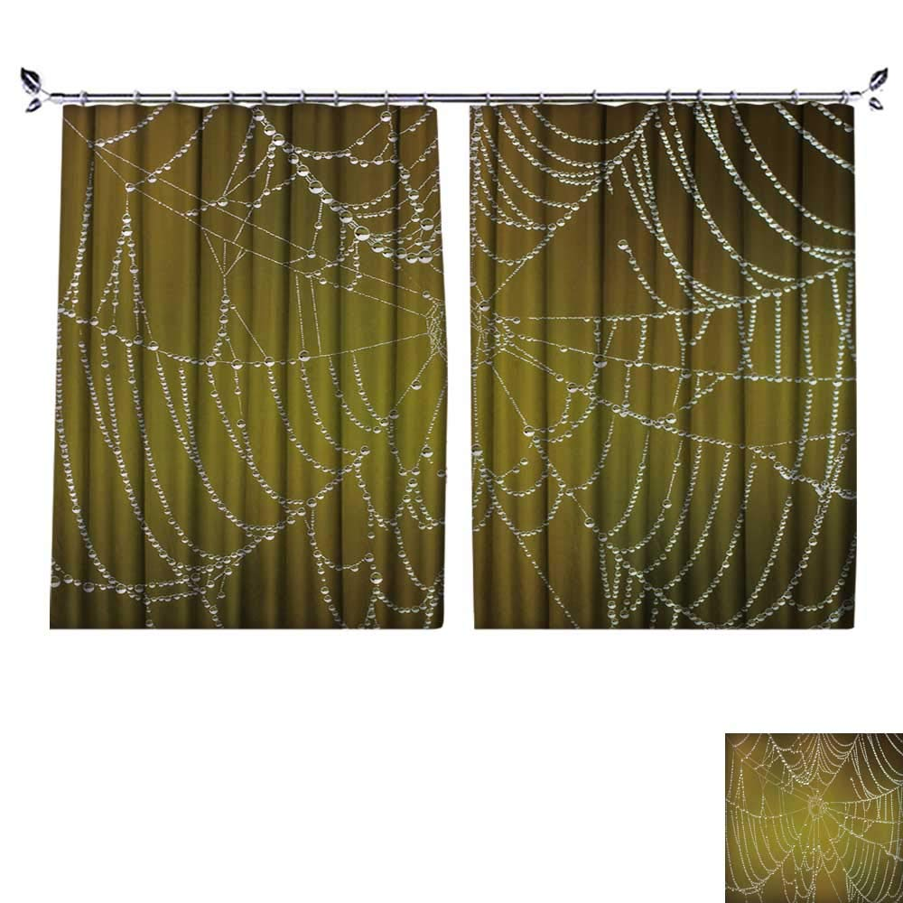 DESPKON Active Printing Fabric Polyester Material Spider net Closeup. for Cartoon Children's Room W84 x L108