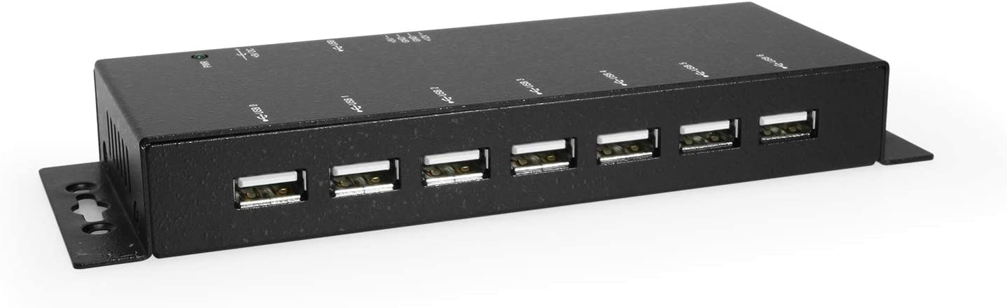 Coolgear Metal 7-Port USB 2.0 Powered Hub for PC-MAC with Power Adapter