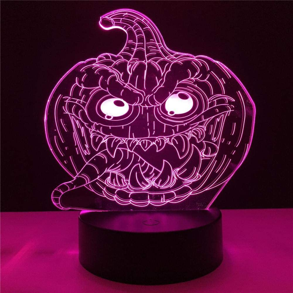 wangZJ Halloween Truco o trato Calabaza Lengua del diablo 3d Usb ...