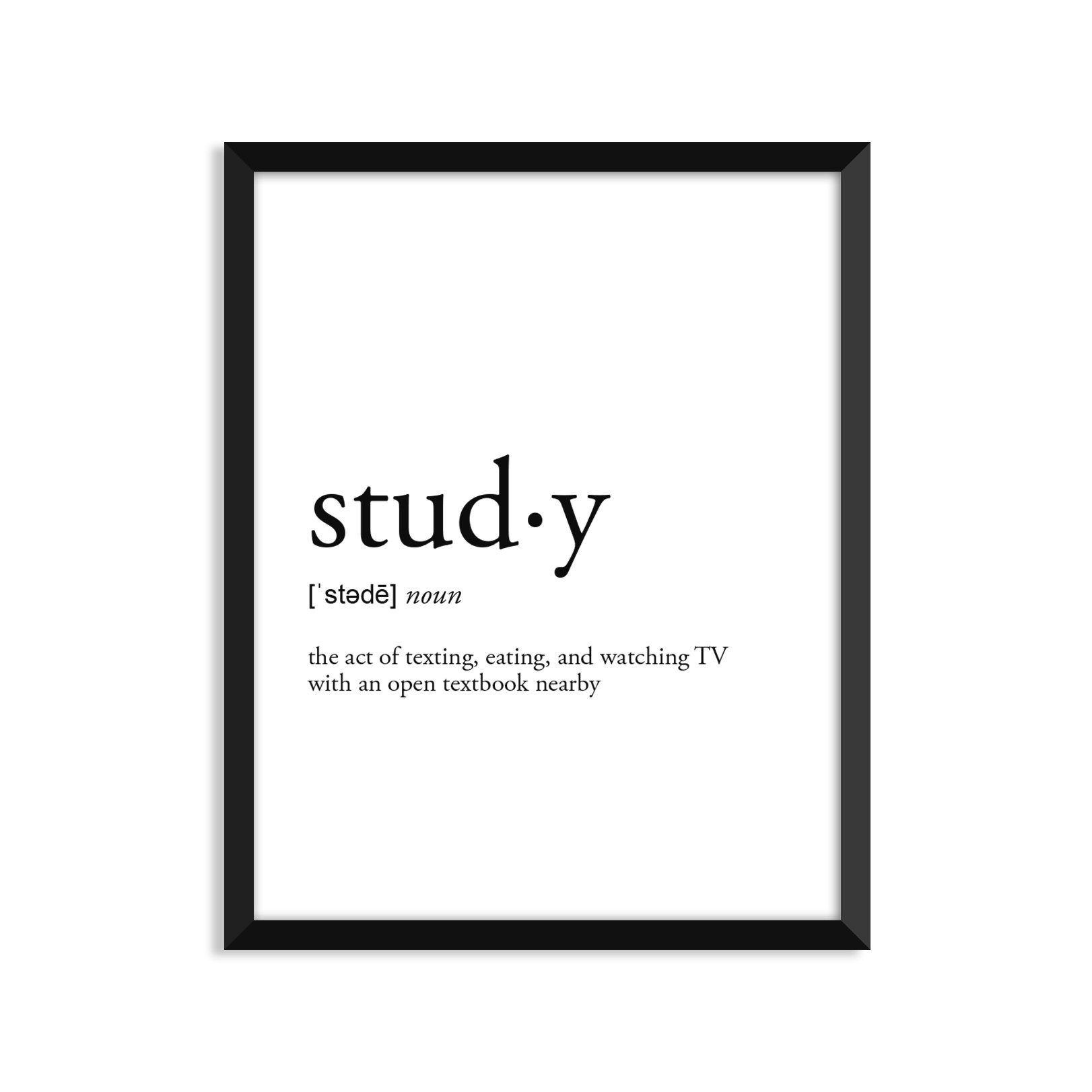 Study Definition - Unframed Art Print Poster Or Greeting Card
