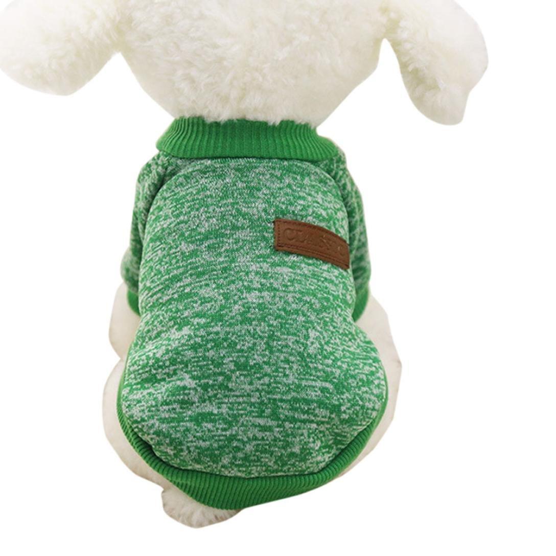 11 Farben Nette Haustier Hund Welpen klassischen Pullover Fleece Pullover Kleidung Warm Winter Strickwaren Mantel Bekleidung Kleidung Blau) Hmeng