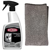 Stainless Steel Cleaning Kit - Weiman Stainless Steel Cleaner & Polish 22 fl oz with Weiman Stainless Steel Microfiber Cloth
