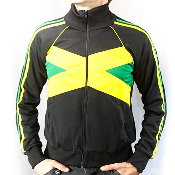 UHari Chaqueta Sudadera Rasta Reggae Jamaica Rastafari Unisex Cremallera Bolsillos Todas Tallas (M)