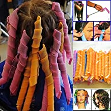 40pcs Pack No Heat Magic Hair Curlers for 50cm Long Spiral Curls Leverage Styling Roller Kit Tools Soft DIY Shapers