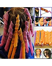 No Heat Magic Hair Curlers Rollers 40Pcs,50cm Long Spiral Curls Styling Kit Leverage Tools with Hook