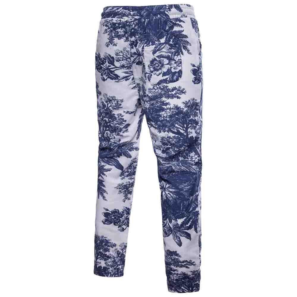 Geetobby Men Flax Elastic Harem Pant Casual Slack Sweatpants Baggy Comfy Trouser
