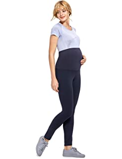 d4292c8edd4a2 Gratlin Women's Maternity Active Pants Pregnant Stretchy Leggings with  Belly Band