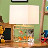 Retro E14 Desk Lamp Creative Fish Tank Modeling Glass Table Lamp for Bar Cafe Restaurant with Switch Bedroom Bedside…