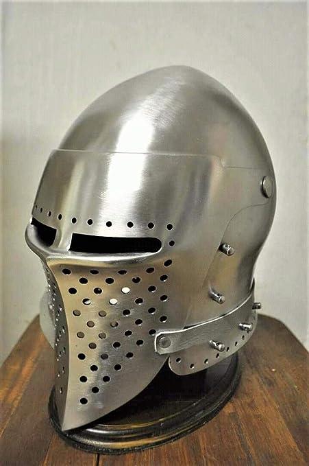 Amazon com: MIR Medieval Functional Numskull Face Bascinet