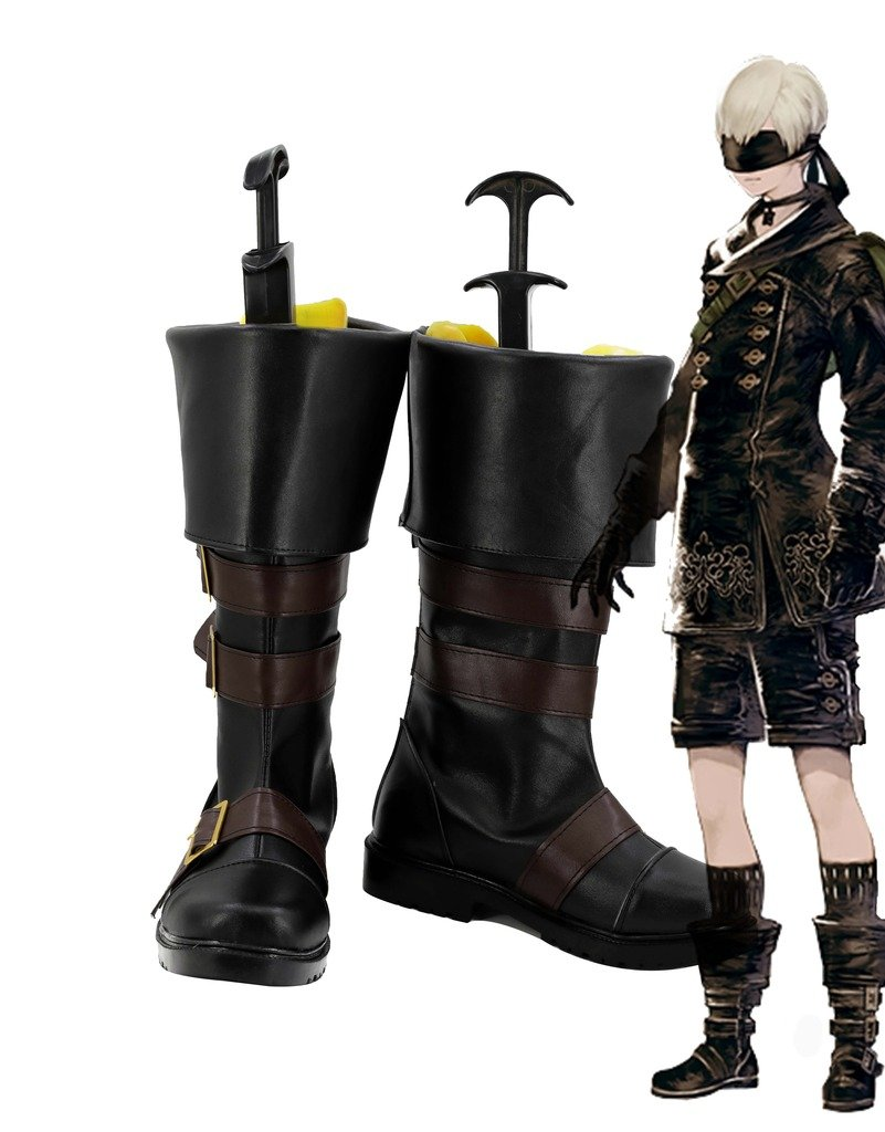 NieR: Automata 9S YoRHa No.9 Type C Boots Cosplay Shoes Boots Custom Made 10 B(M) US Female