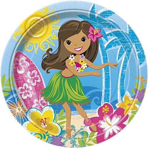 Hula Girl Luau Dinner Plates, 8ct -