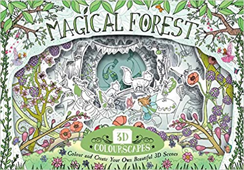 amazon 3d colourscapes magical forest colour and create your own
