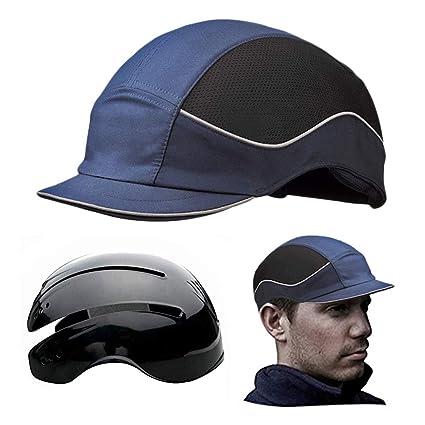 Gorra Seguridad / Casquete Antigolpes para proteger de impactos como piedras, Ramas, Casco interior ABS con almohadilla ...