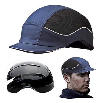 Gorra Seguridad / Casquete Antigolpes para proteger de impactos como piedras, Ramas, Casco interior ABS con almohadilla EVA. Pro Gorra anti-choque EN ...