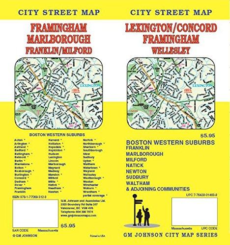 Lexington / Concord / Framingham, MA Street Map