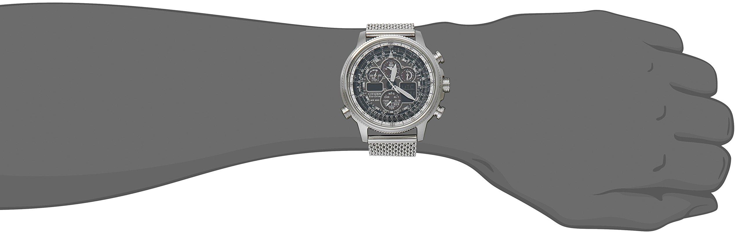 Citizen Eco-Drive Men's JY8030-83E Navihawk A-T Analog Display Silver Watch by Citizen (Image #2)