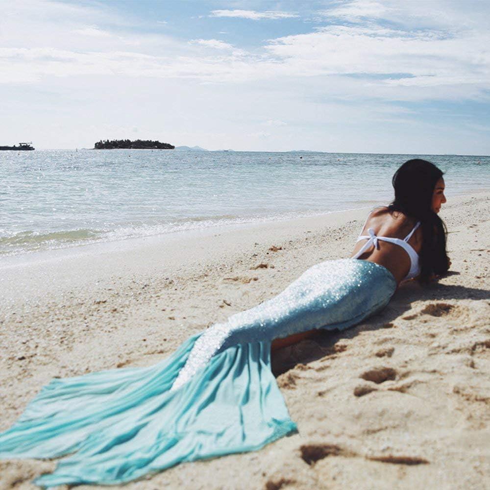 blau gl/änzenden Rock swimmsuit f/ür Frauen M/ädchen Einheitsgr/ö/ße Geschenkbeutel Dee Plus Erwachsene Meerjungfrau Schwanz Kleid Kost/üm Beach Bikini 2018 New Beach Fashion Meerjungfrau Bikini