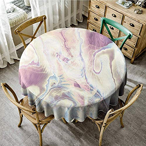 Brick Vinyl Ottoman - DONEECKL Restaurant Tablecloth Marble Vintage Antique Ottoman Art Forms with Faded Blurry Colors Picture for Kitchen Dinning Tabletop Decoration D67 Cream Dried Rose Light Blue