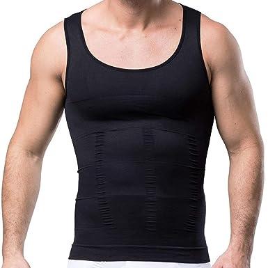 3b553606cf356 Amazon.com  Semir Mens Compression Shirts Body Shaper Slimming Vest ...