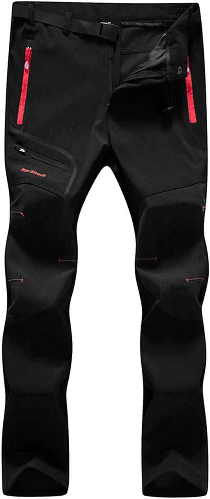 7VSTOHS Pantalones de Senderismo para Hombres Transpirable Ligero Ropa de Deporte Pantalones Deportivos cómodos Escalada Correr Montar Caminar ...