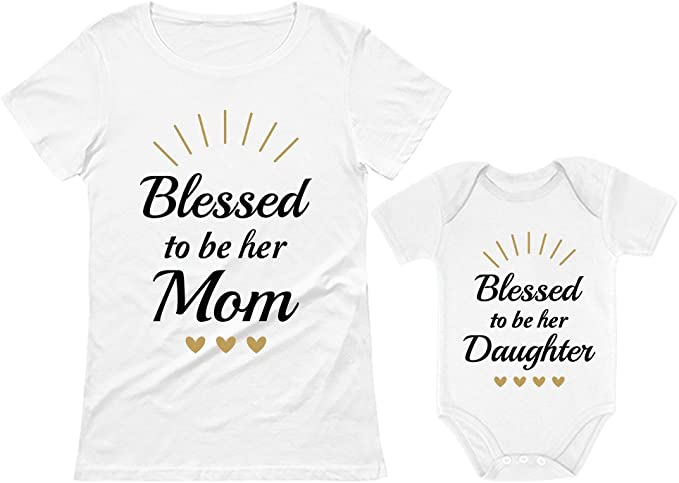 Womens T-Shirt I LOVE MY AWESOME DAUGHTER Mum Mam Mom Mother Gift For Her Funny