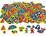 500 Basic Chinese New Year Foam Stickers for Kids Crafts | Childrens Craft Foam