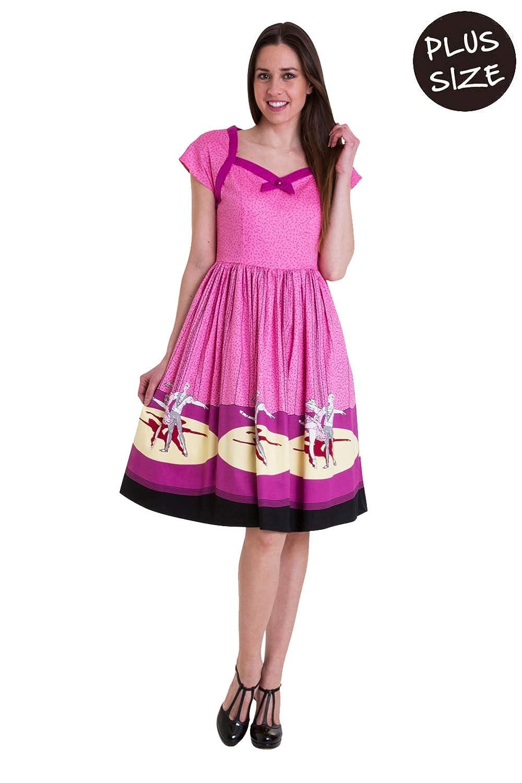 Banned Ballerina Border Cap Sleeve Plus Size Dress at Amazon ...