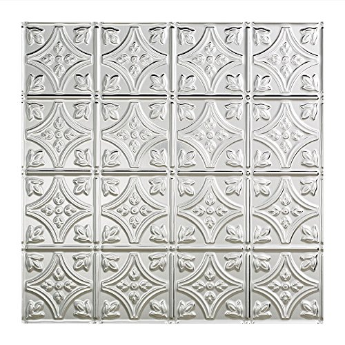 - Fasade Easy Installation Traditional 1 Brushed Aluminum Lay In Ceiling Tile / Ceiling Panel (2' x 2' Tile)