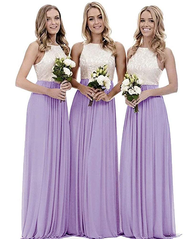 Lavendar FNKS V Neck Beaded Floor Length Evening Dress Bridesmaid Gown