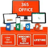365 Office - Windows/Mac/Android - para 5 Dispositivos / 1 Usuario - Versión auténtica - Entrega Digital - Lifetime