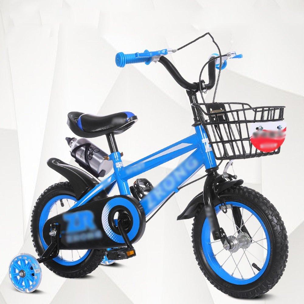 FEIFEI キッズバイク、サイズ12インチ、14インチ、16インチ、18インチレッドブルーイエローハンドルバー高さ調節可能 ( 色 : 青 , サイズ さいず : 12インチ ) B07CRKGK8T 12インチ|青 青 12インチ