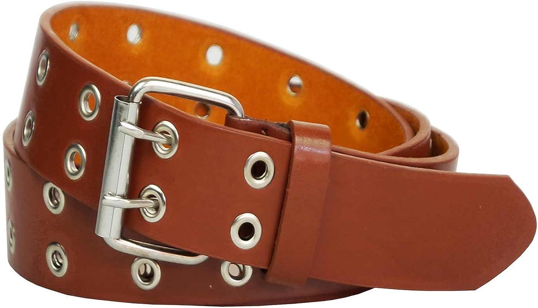 Xeira Cintura borchiata con occhielli metallici reg; con 2 e 3 Disponibile in nero//marrone//bianco//grigio//rosa//blu cintura fermaglio