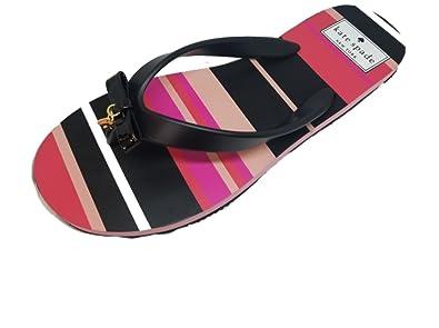 2b35f96d06fb Amazon.com  Kate Spade Fifi Black Matte Rubber Multi Voyage Stripe ...