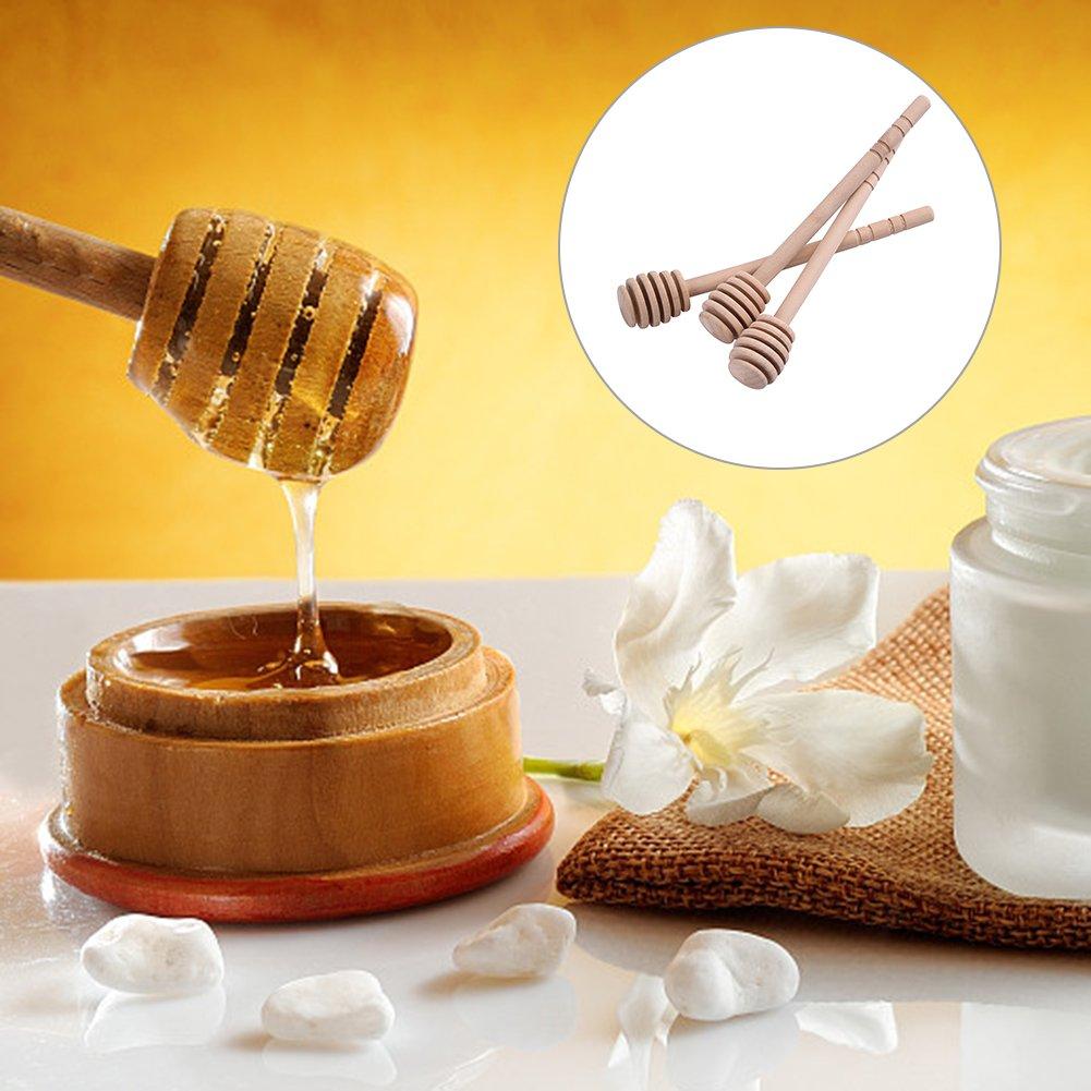 Following Bastones de Madera para Cortar Miel de 15 cm, para Tarro de Miel, dispensador de Miel, para café, Leche o té: Amazon.es: Hogar
