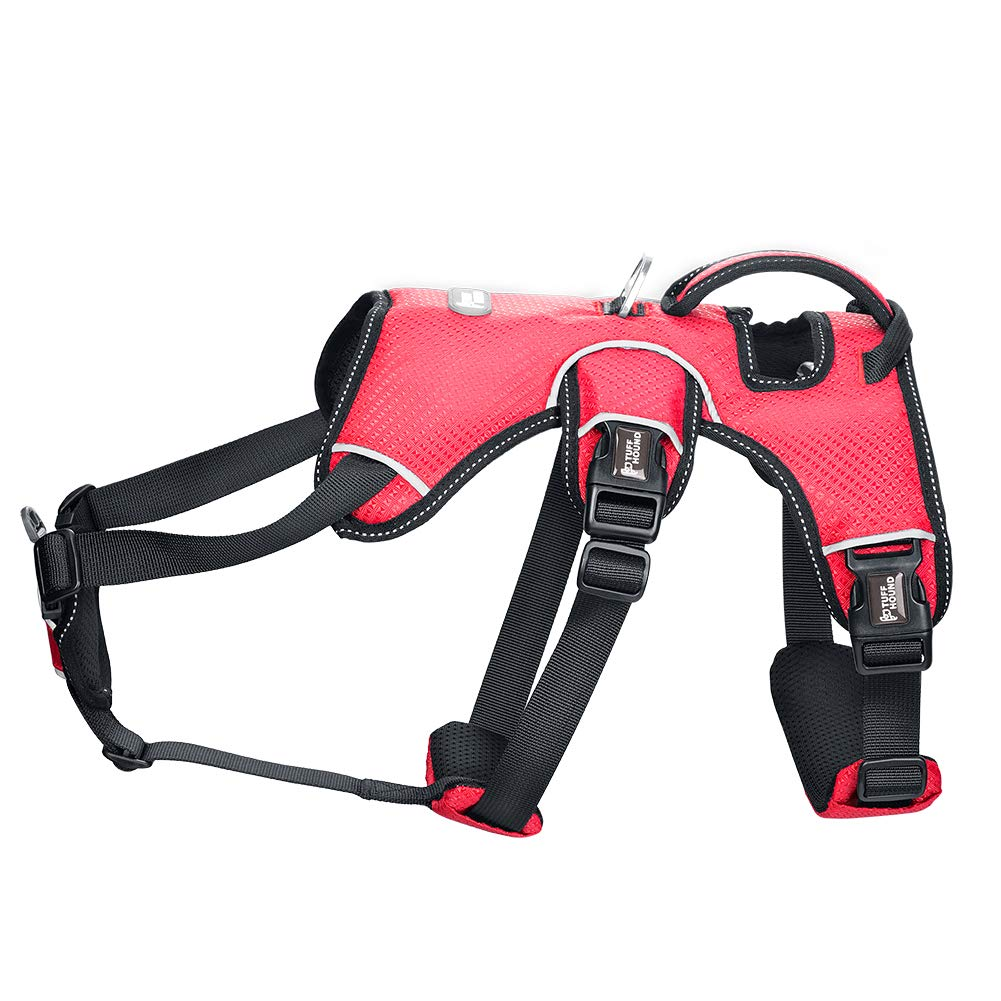 High-end Oversized Pet Dog Chest Straps with Red color Reflective Oxford Padded Soft Vest for Small Medium Large Dog