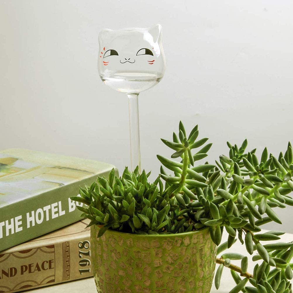 Glas Wasserspender f/ür Topfpflanzen,3 Pcs QoFina Wasserspender Bew/ässerungskugeln Glas Pflanzenbew/ässerung Pflanzen,Dosierte Bew/ässerung