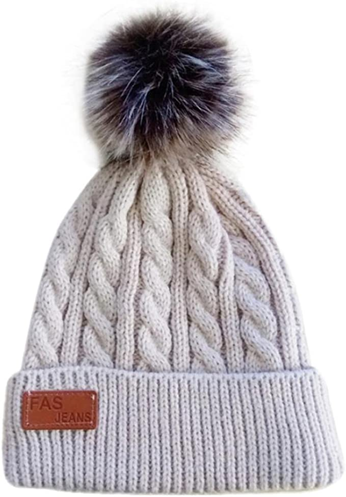 Newborn Toddler Baby Girls Boy/'s Hats Warm Winter Knitted Wool Hemming Hat Caps