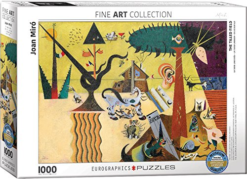 EuroGraphics The Tilled Field by Joan Miro (1000 Piece) Puzzle