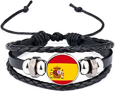 Isuepr Día Nacinal España Pulsera Tejida Bandera Nacional Paises ...