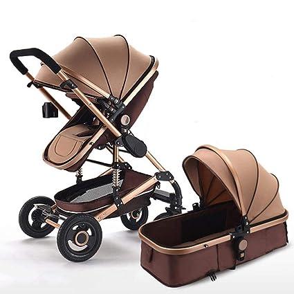 Olydmsky Carro Bebe,Bebé Cochecito Paisaje Alto reclinable Plegable ...