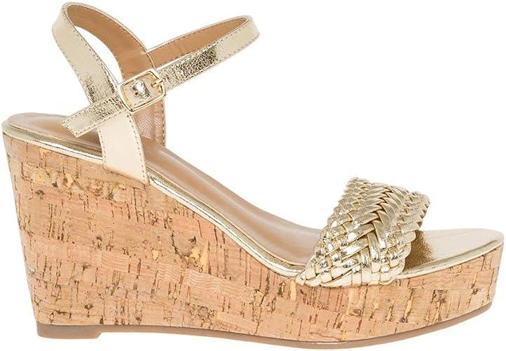 Braided Open Toe Wedge Sandal