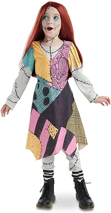 Amazon Com Disney Sally Costume For Kids The Nightmare Before Christmas Size 7 8 Multi Clothing
