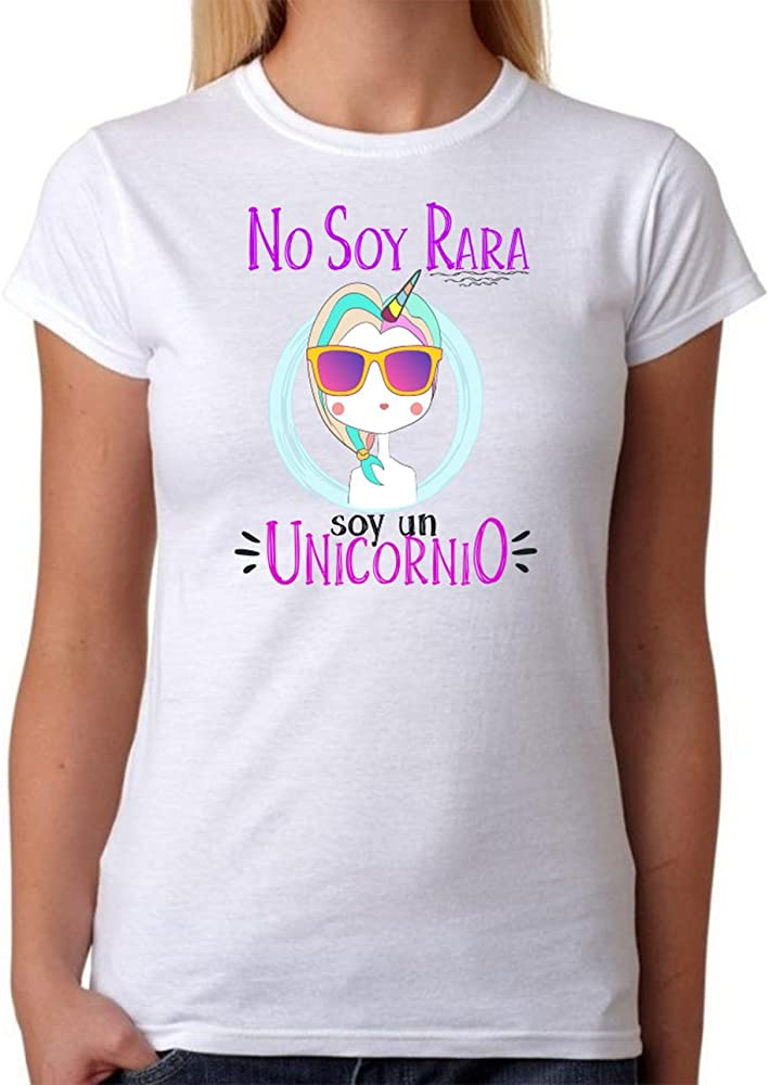 Camiseta Unicornio. No Soy RARA Soy un Unicornio. Camiseta Super Chula Divertida para Destacar Entre Las Amigas. (S): Amazon.es: Ropa y accesorios