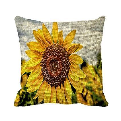 Amazon Starings Pillowcase Sunflower Decorative Pillow Cover Cool Sunflower Decorative Pillows