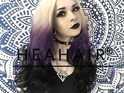 Heahair Affortable Handtied Synthetic Lace Front Wig for Woman (Ombre