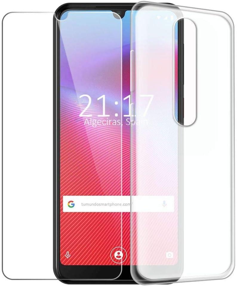 HYMY Funda para Vodafone Smart V10 Blanco Lechoso Translúcido + 1 ...