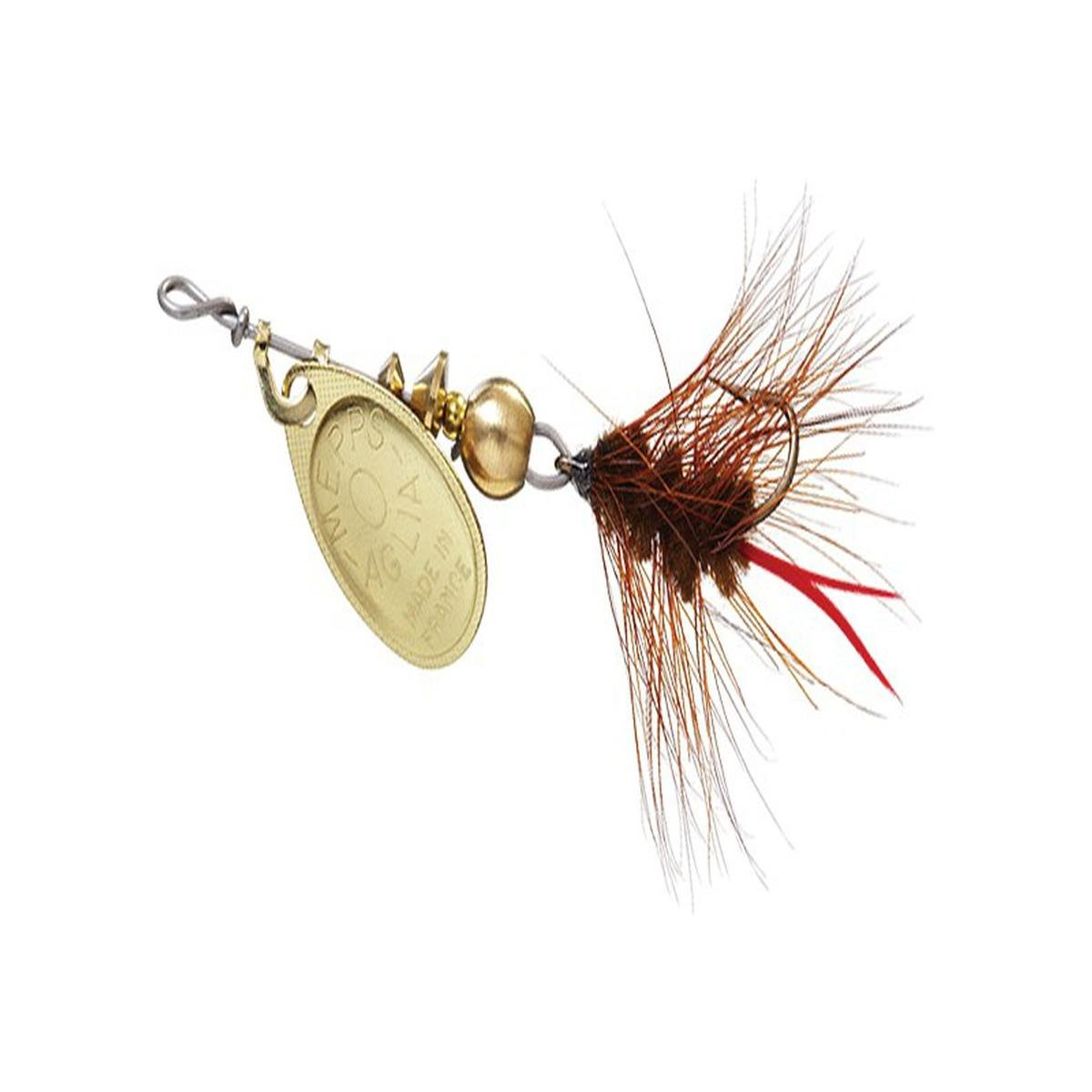 2 1//12 oz. Mepps  Aglia Spin Fly Gold//Brown Worm /& Gold//White Worm