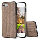 iPhone 6S Plus Case, iPhone 6 Plus Case, BELK [Air To Beat] [Slim Matte] Non Slip Wood Tactile Extra Grip Rubber Bumper [Extremely Light] Soft Wood Back Cover, Fingerprint Free Flex TPU Case, Walnut